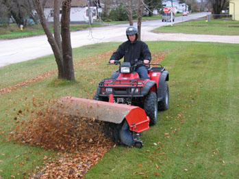 ATV power broom street sweeper