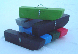 Unbreakable Ice fishing rod and tackle box